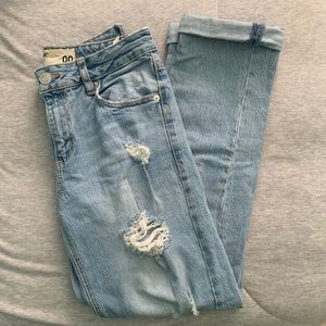 Distressed Garage Mom Jeans